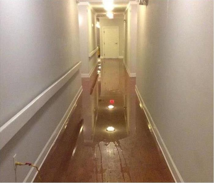 Water damage in apartment in Kankakee Before