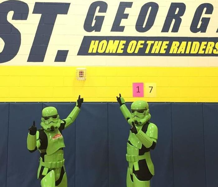 SERVPRO Stormtroopers visit St. George Community Consolidated School