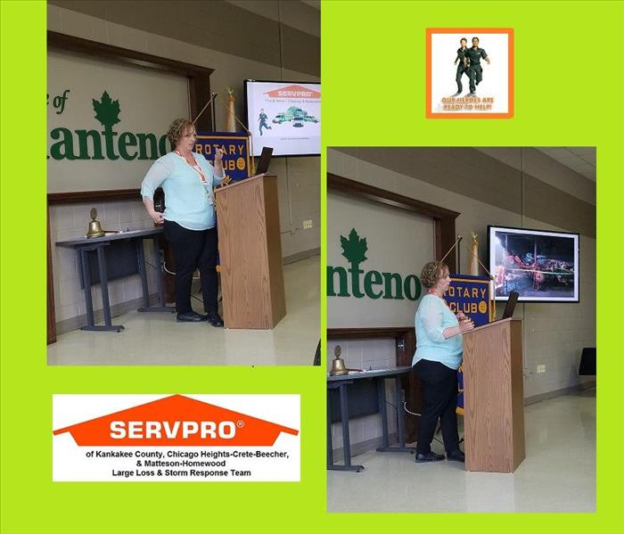 Manteno Rotary Club Meeting with SERVPRO
