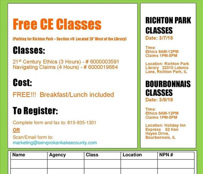 Free CE Classes