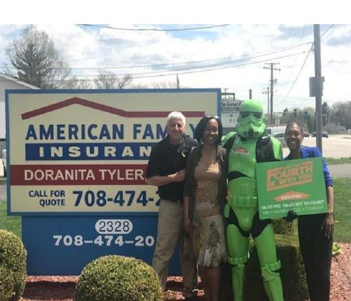 SERVPRO Storm Trooper out visiting!
