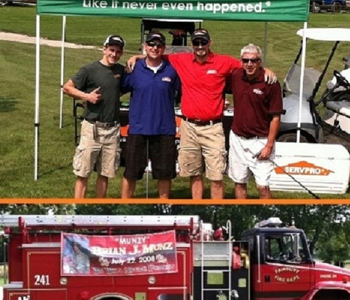 Four SERVPRO male representatives at golf course
