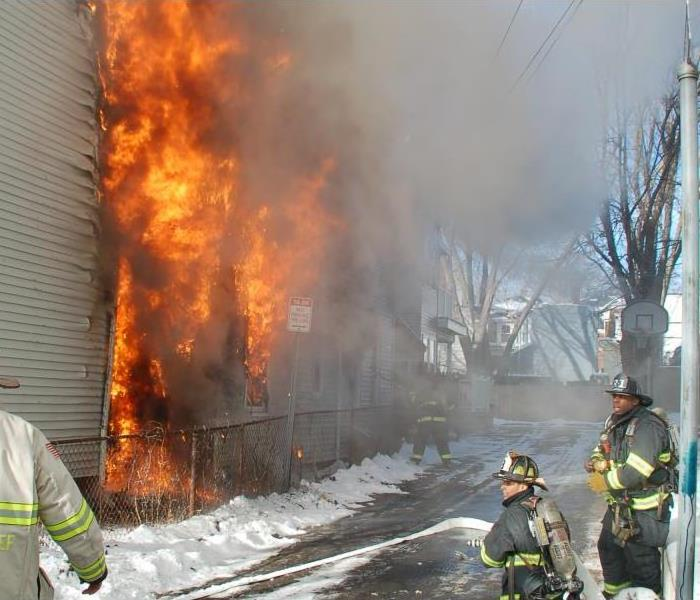 Fire Damage Never use a blowtorch on frozen pipes. Prevent winter fires.