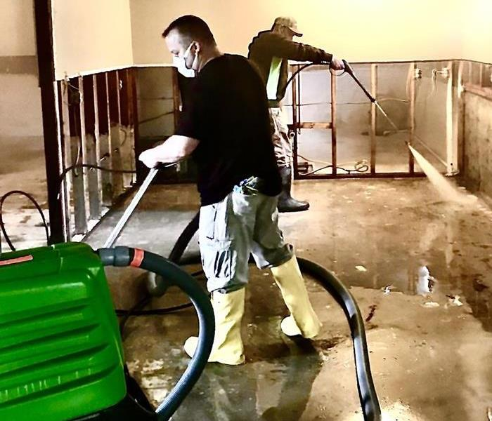 SERVPRO Technical Experts addressing water damage issues in Kankakee County
