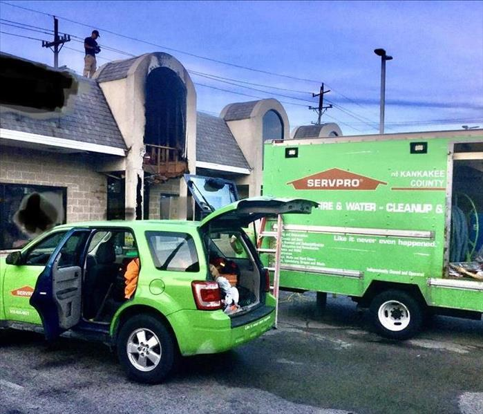 SERVPRO of Kankakee County at Commercial Fire Loss in Manteno, Illinois