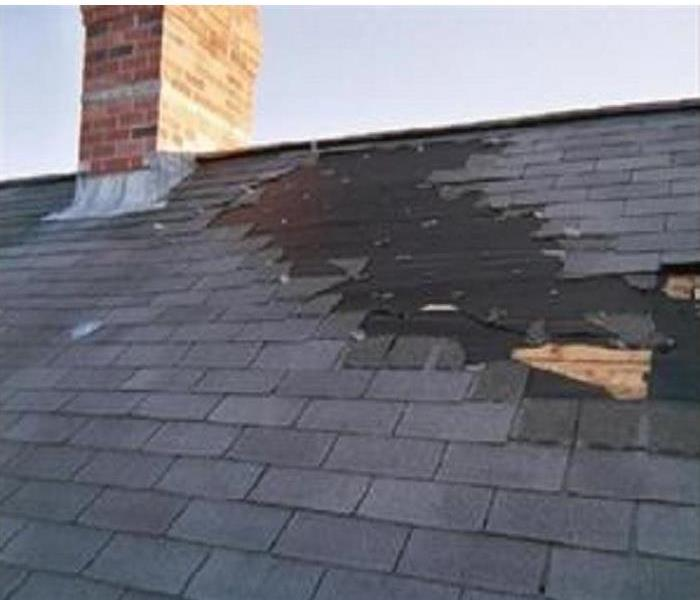 Water Damage Roof damage caused by water to your home in Bourbonnais