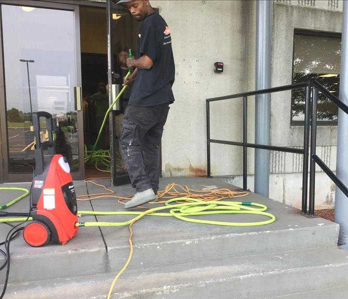 SERVPRO Technician cleaning your Manteno Headquarters