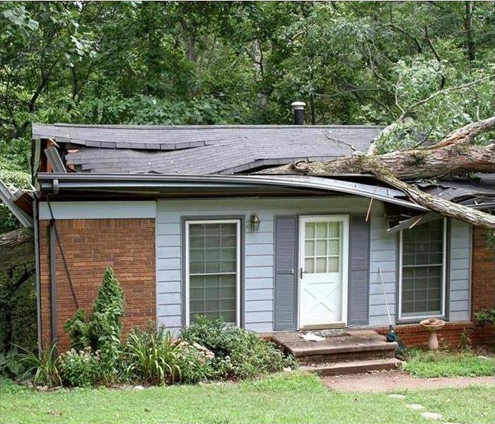 Storm Damage Roofing Services Offered by SERVPRO Following a Storm