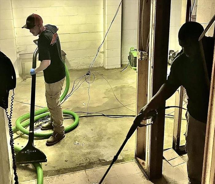 SERVPRO Technical Experts mitigating water damage in Kankakee County.